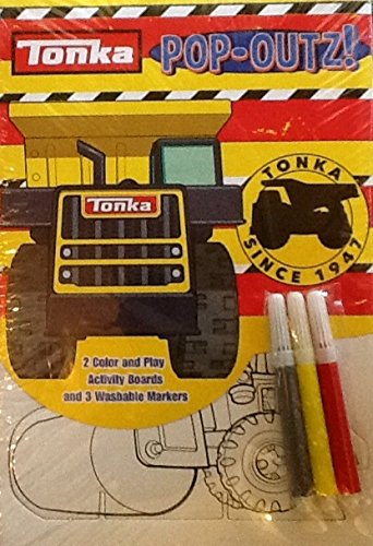 Pop-outs Mini Set ~ Tonka Toy Trucks ~ Coloring Activity Boards & Markers