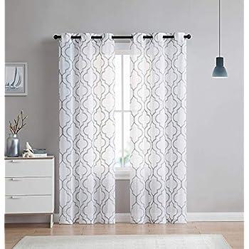 Amazon Com Tommy Hilfiger Diamond Lake Pair Of Curtains 2