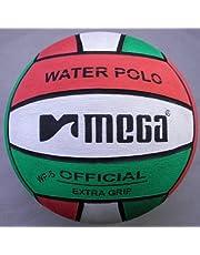 Water Polo Ball. Mega. Red-White-Green diseño. Tamaño 5
