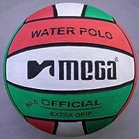 Mega Sport Palla da pallanuoto Di grandi dimensioni. Colore: rosso, bianco e verde. Misura 4.