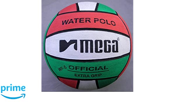 Water Polo Ball. Mega. Red-White-Green diseño. Tamaño 5: Amazon.es ...