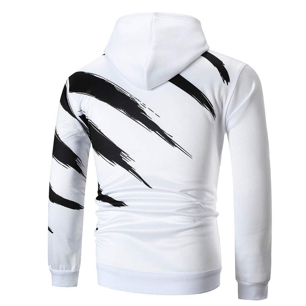 Geetobby Men Hoodie Sweater Long Sleeve Printed Sweatshirts Top Casual Outwear