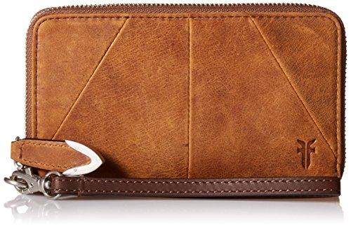 FRYE Jacqui Zip Around Phone Wallet, Brown by FRYE