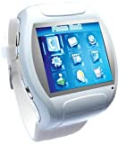 Super Cool Quad Band Watch Touch Screen Cell Phone White
