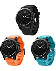 Classicase Watch Strap compatibel met Garmin Approach S60 / Approach S62, Soft Silicone Sport Replacement Bands