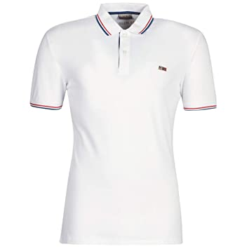 Napapijri Polo TALY Stretch Stripe Blanco: Amazon.es: Deportes y ...