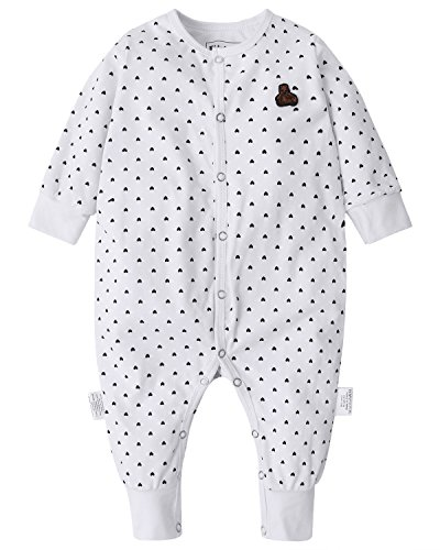 Kidsform Baby Cotton Romper Infant Pajamas Boys Girls Print Footless Sleep and Play Jumpsuit 3-24 Months