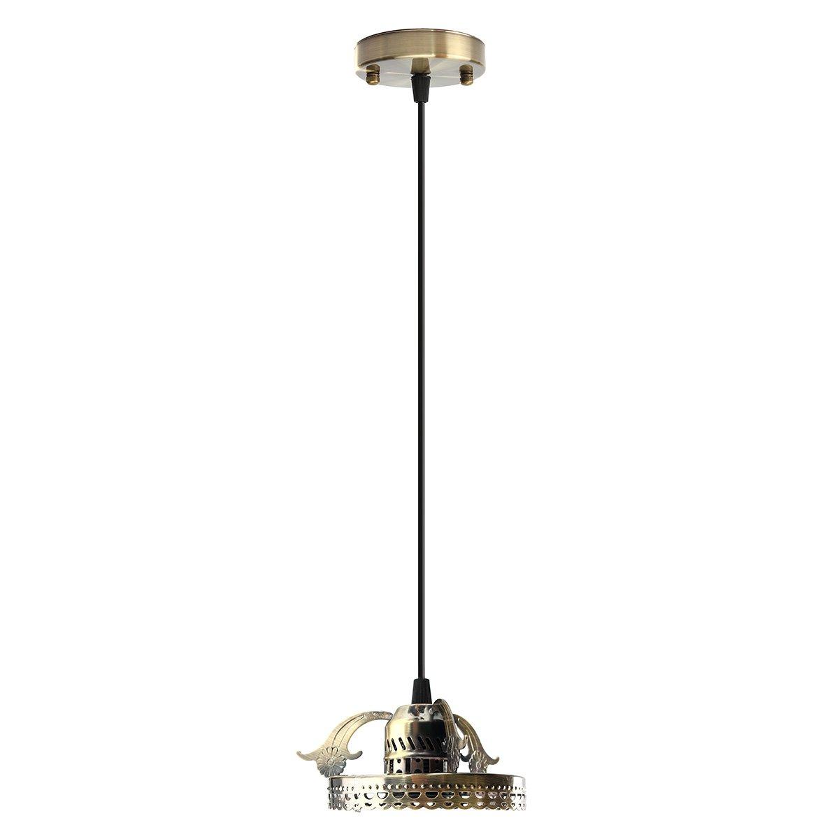 Hitommy Antique Industrial Vintage Ceiling Pendant Light Lamp Bulb Chandelier Fixture For Indoor Lighting - Bronze