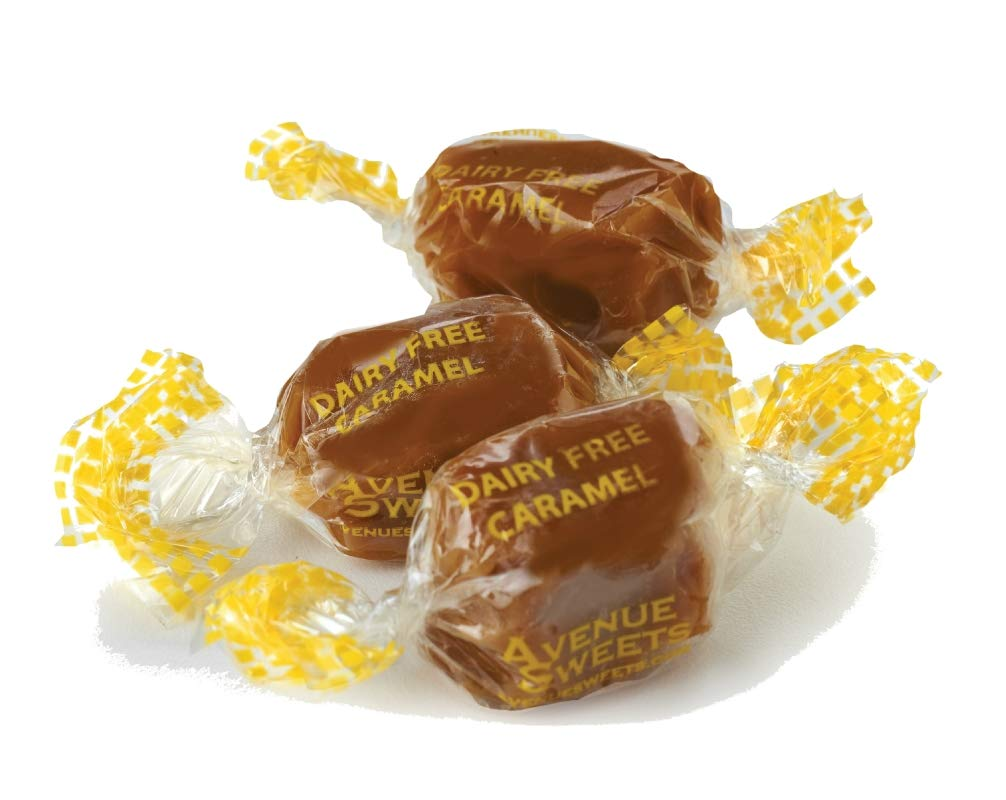 AvenueSweets - Handcrafted Organic Dairy Free Vegan Individually Wrapped Soft Caramels - 1 lb Box - Vanilla by AvenueSweets