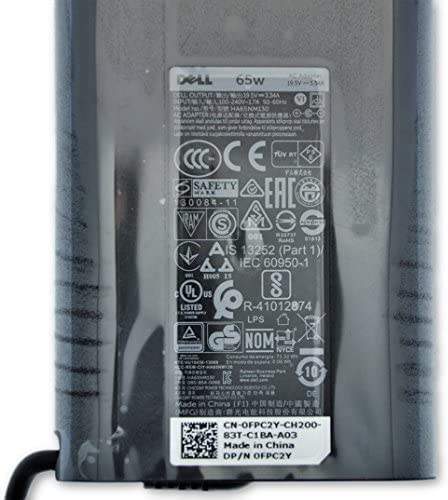 LA65NM130 FPC2Y 6TFFF JNKWD Genuine DELL 65W Slim Design AC Adapter G4X7T