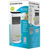 Comfort Zone 36 Hybrid Tower Fan, White