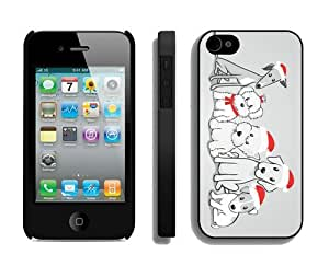 Customized Design Christmas Dog iPhone 4 4S Case 43 Black by icecream design