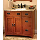 Fairmont Designs 117-V36R American Themes Collection 36-Inch Vanity (Red Burnished Oak)