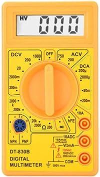 Fangfeen Probador de circuitos DC DC Voltaje LCD Digital DT-830B mult/ímetro Manual Volt/ímetro ohm/ímetro del amper/ímetro AC Inspector Ohm