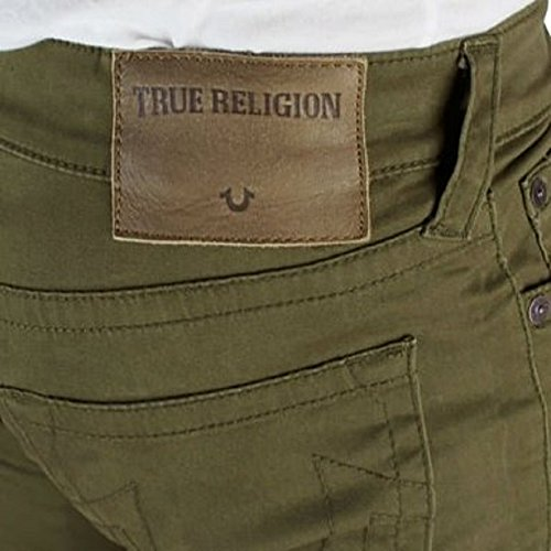 True Religion Herren Jeanshose grün olivgrün