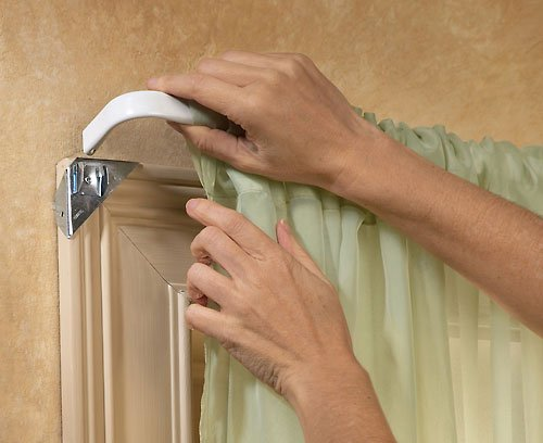 Holder Curtain (8 Instant Curtain Rod Holders)