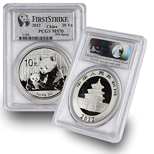 2012 CN 1 oz Chinese Silver Panda Coin 10Yn MS70 PCGS First Strike ()