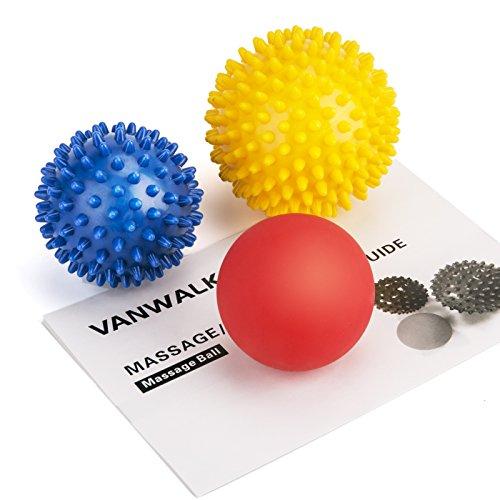VANWALK Spiky Massage Lacrosse Balls
