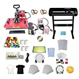 INTBUYING 6in1 Heat Press Transfer Machine Cutter