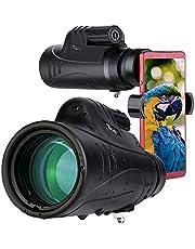 TELMU 10X42 Wasserdichtes Monokular Teleskop - BAK-4 Prisma Monokular, FMC Monokulare Ferngläser mit 75mm Telefonhalter & Staubschutzhaube für Reisen Vogelbeobachtung Jagd Camping Konzert Ballspiel