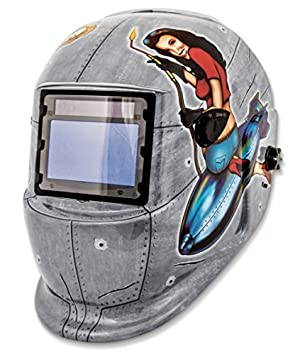 Shop Iron 41288 Solar Powered Auto Dark Welding Helmet by Shop Iron
