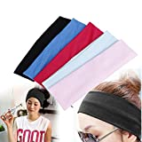 Wekold Women's Wide Sports Yoga Stretch Elastic Solid Hair Band Headband