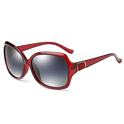 Gafas de Sol Gafas de Sol polarizadas Ms Drive Fashion Metal Inlay Large Frame Female Glasses