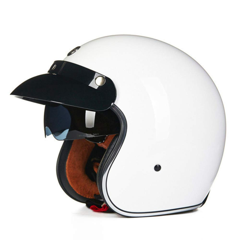 Berrd Open Face Retro Motocicleta Casco De Moto Naranja The Skeleton L