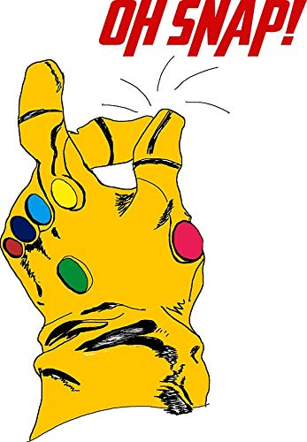 Amazon com: Thanos Infinity Gauntlet Oh Snap! Sticker Decal