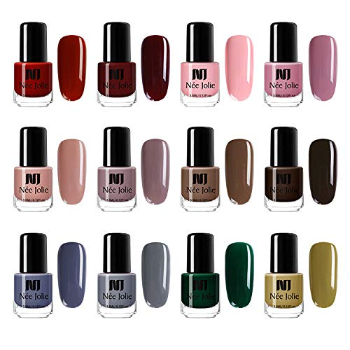 Amazon.com : NEE JOLIE Pure Color Nail Polish Quick Dry Purple Nude ...
