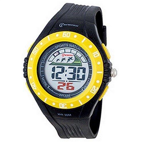 Montre Concept - Relojes digitales hombre Mingrui - Correa Plástico Amarillez - Dial Redondo Fondo Negro: Amazon.es: Relojes