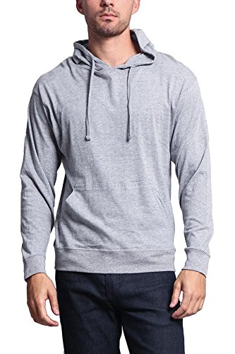 - G-Style USA Cross-Dyed Heather Jersey Pullover Hoodie MH13104 - Heather Grey - 2X-Large - R1B