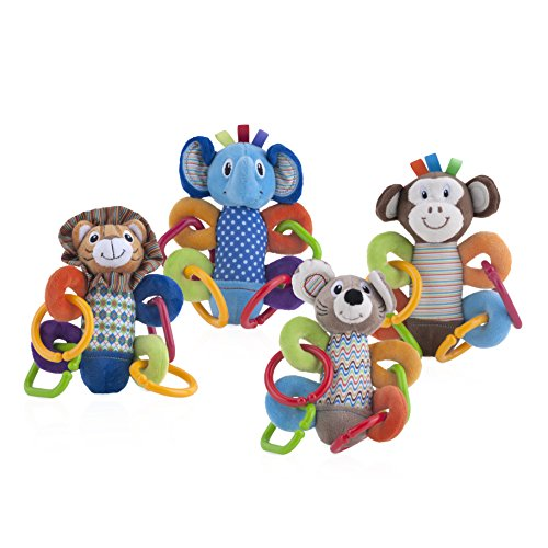 Nuby Squeeze N' Squeak Plush Toy, Characters May Vary ()