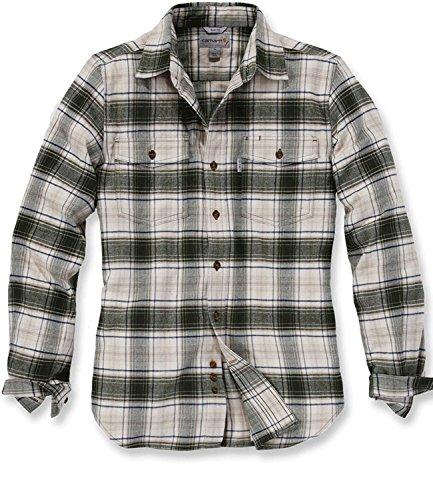 Flannel Shirt Fit Longsleeve Carhartt Duffle Bag Green Trumbull dtqgqaF
