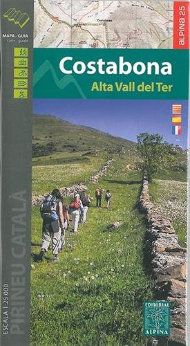 Descargar Libro Costabona- Alta Vall Del Ter Mapa Excursionista. Escala 1:25.000. Alpina Editorial. Castellano, Català, English. Editorial Alpina. Vv.aa.