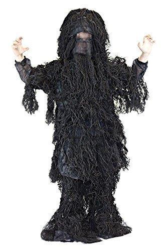 Ghillie Suit Child Costumes (Kids Small/Medium Black Ghillie Suit)