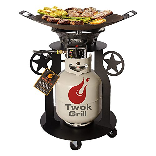The Lone Star Disc Grill by Twok Grill® The Original Texas Wok (Twok Star)