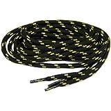 Heavy Duty Kevlar Reinforced Boot Laces Shoelaces (Black W/natural) 2 Pair Kit