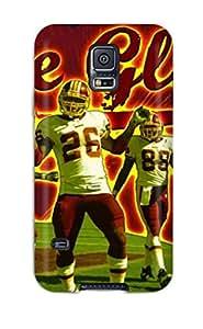 Bernook Premium Protective Hard Case For Galaxy S5- Nice Design - Artistic The Glow Washington Redskins