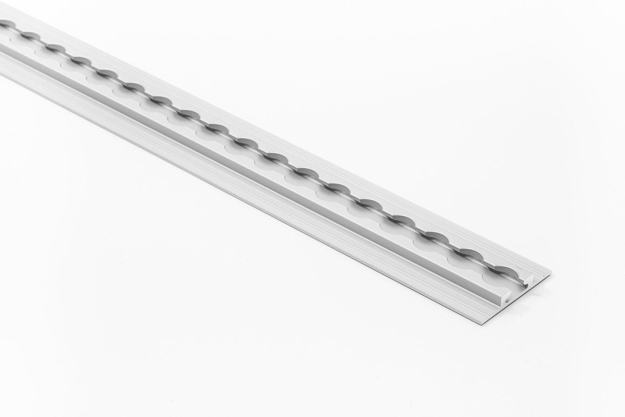 Aluminium silber eloxiert 1 x Airlineschiene versenkbar Alu-Airlineschiene 20 mm Lochdurchmesser 2,0 m