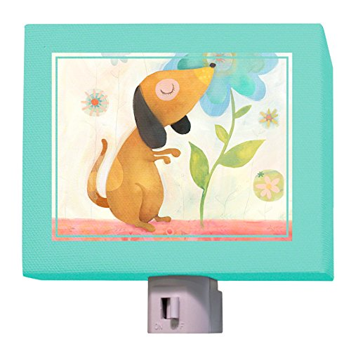 Oopsy Daisy Night Light, Puppy's Favorite Flower, 5'' x 4''