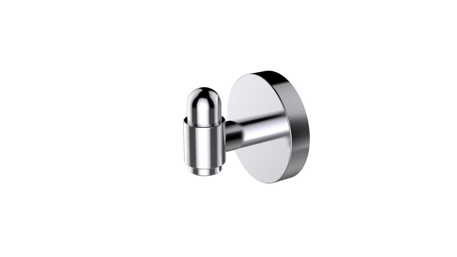 Eviva EVAC30BN Bullet Towel or Robe Hook ROUND Design Bathroom Accessories Combination, Brushed Nickel