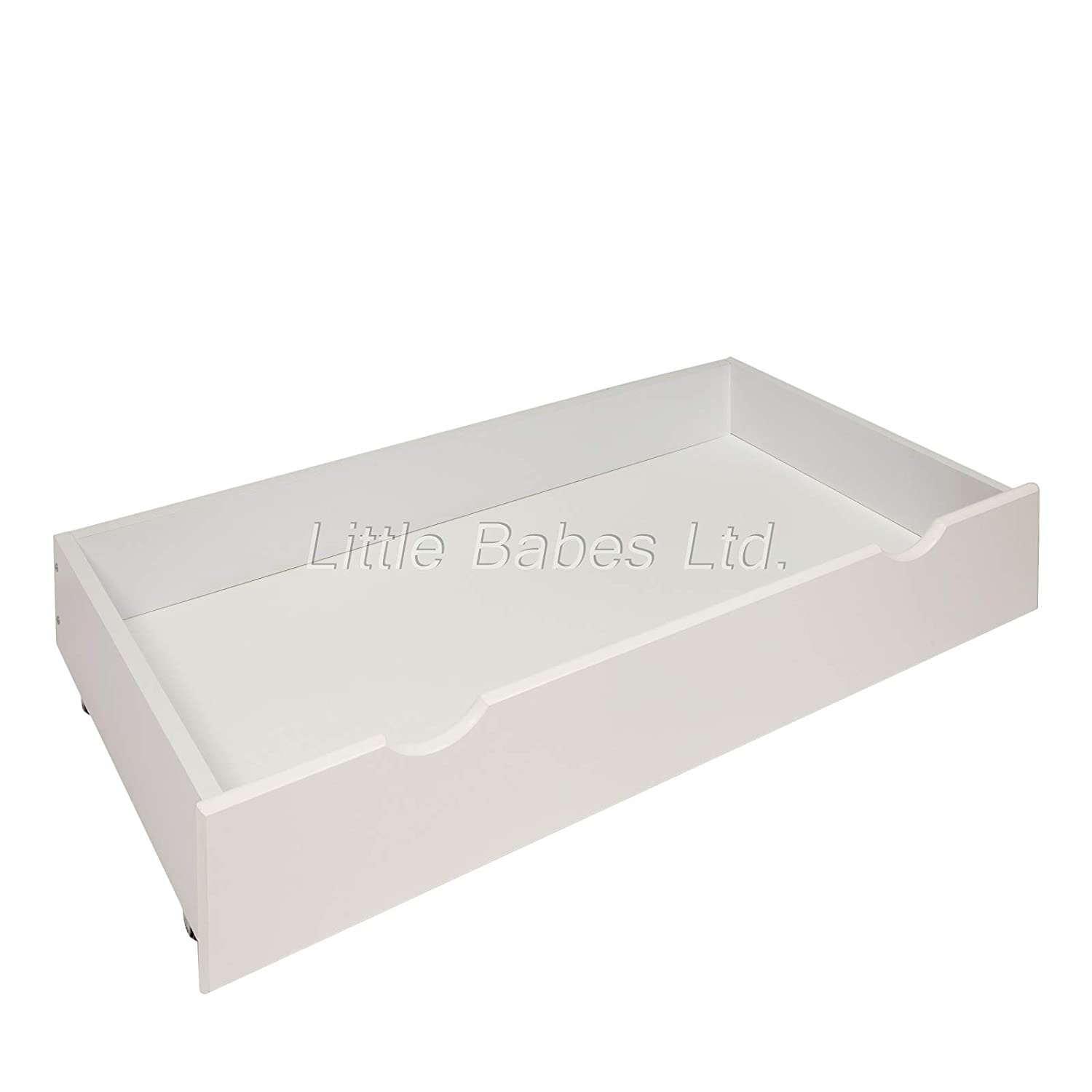 New White Under Bed Cot Drawer//Small Drawer Ideal for Mini Cot Space Saver Cot//Mini Under Bed Drawer for Baby Small Cot