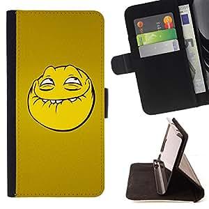 - Troll Smiley Face/ Personalizada del estilo del dise???¡¯???¡Ào de la PU Caso de encargo del cuero del tir???¡¯????n del s - Cao - For Sony Xperia Z2 D6
