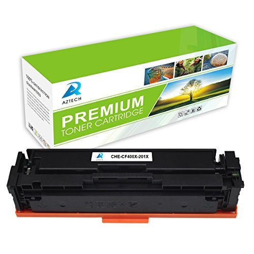 AZTECH 1 Pack 2,800 Page Yield Black Compatible Toner Cartridge Replaces HP 201X CF400X For HP Color LaserJet Pro M252dw M252n, Color LaserJet Pro MFP M277dw M277n