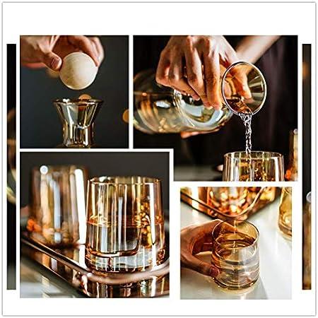 Tcbz Juego de decantadores de Whisky de Cristal sin Plomo (1200 ml) con 4 Vasos de Whisky (4 * 260 ml), Vasos de degustación para Licor o Whisky con Bandeja, Regalo para Boda o Aniversario, Regal