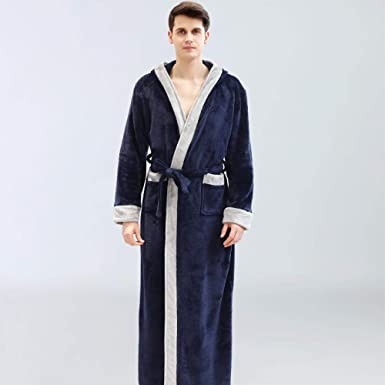 Albornoz Hombre Ducha Algodon Pijama Salón De Belleza Albornoz ...