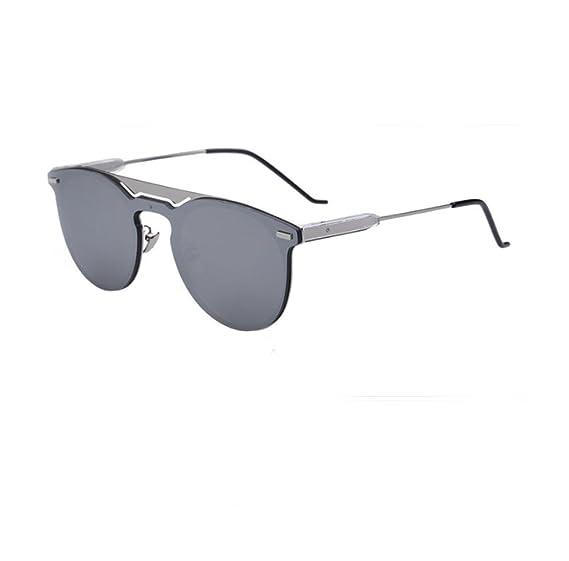 HAOYUXIANG Herren Reflektierende Sonnenbrille Mode Flut,GoldFrameIce-chip