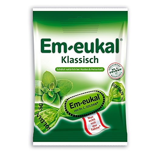 EmEukal Eucalyptus oil and menthol throat cough lozenges 75g 1Pack 17Drops Lozenges Menthol Eucalyptus