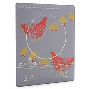 Paula Deen 1500W Patterned Glass Programmable Induction Cooker Gray
